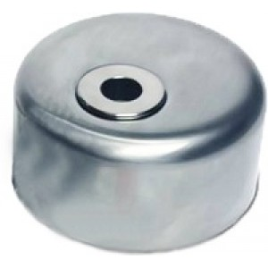 Броненакладка Titan полированный хром  для цилиндра Dom Diamant